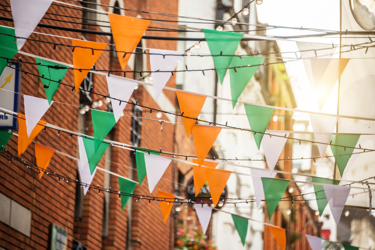 irish flag colours
