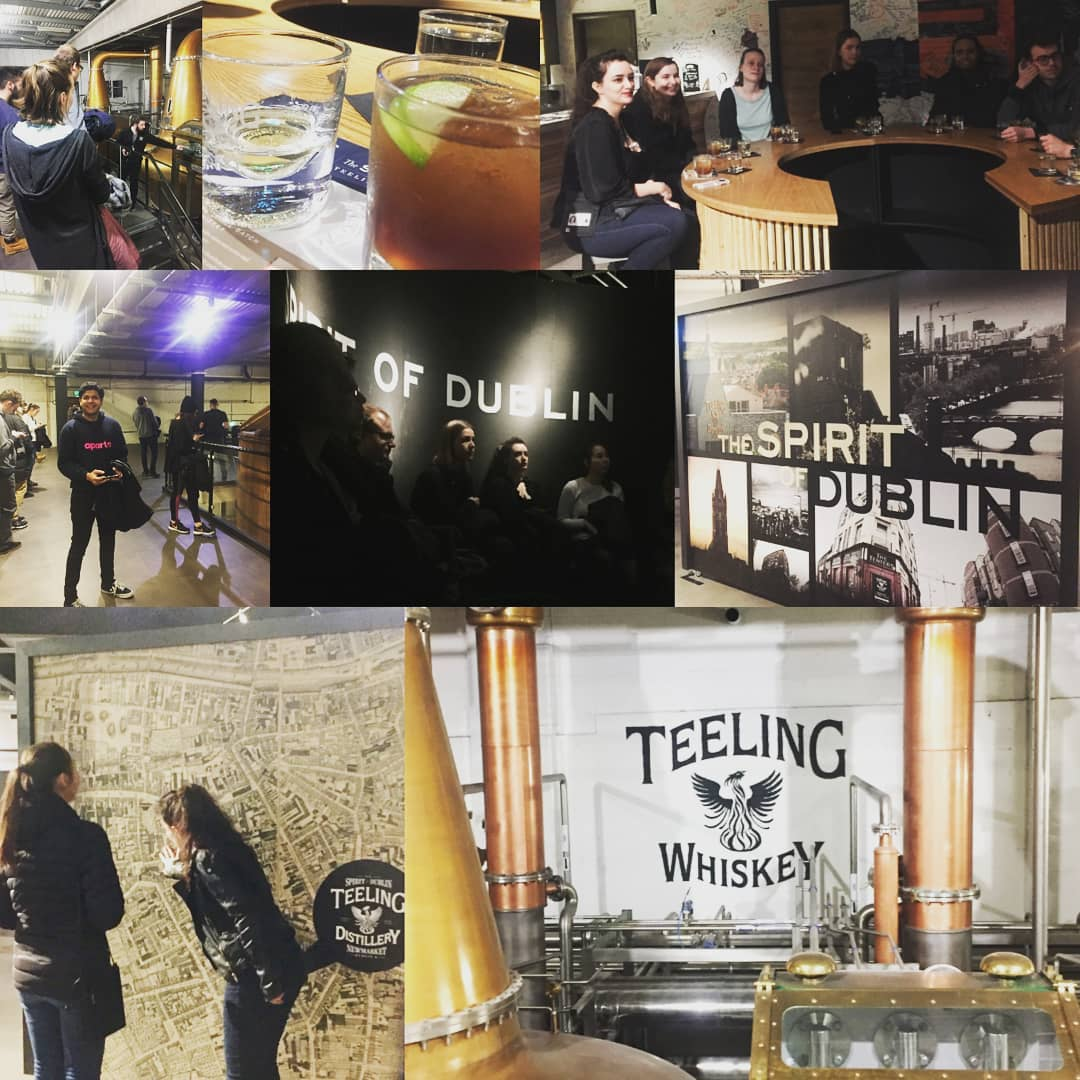 Whiskey Tasting Tour in Teelings😁!! #apartofyourstory @teeling_whiskey #newfriends #dayout #dublin #housemates #students #college #university