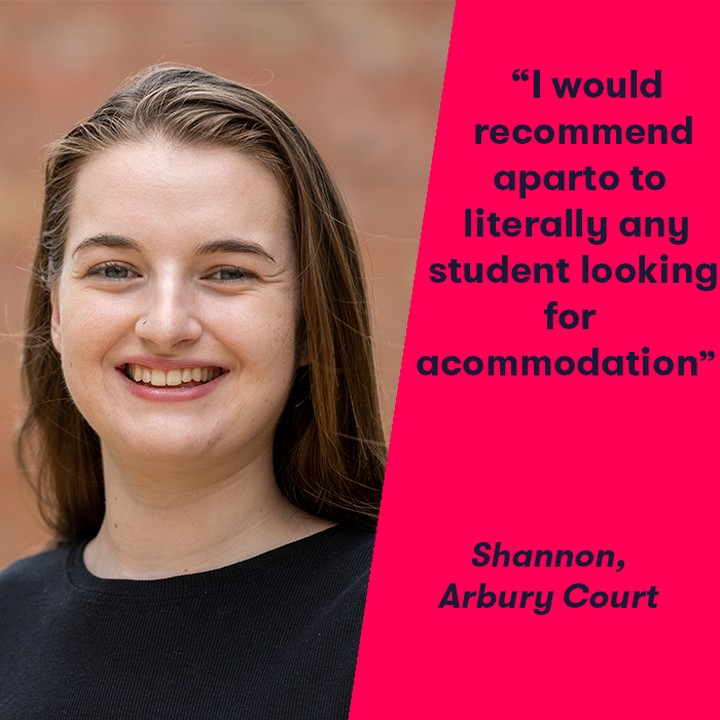 "Shannon, a resident at Arbury Court talks about her experience at aparto: ""The best thing about aparto is the common room and friendly staff! The very spacious social areas and unique events make aparto different. 🎉  I've had great experiences with new friends I've made here, watching movies in the common room and listening to music on Friday nights before going out. 🎶  We had a mindfulness class, which was very beneficial and relaxing, and a massage therapist came in which was brilliant! The events are unique and end up being really fun and are great opportunities to do things I wouldn't normally do. 🙌  My room is extremely spacious and cosy and feels like home and I would recommend aparto to literally any student looking for accommodation."" 😆 #apartofyourstory #students"