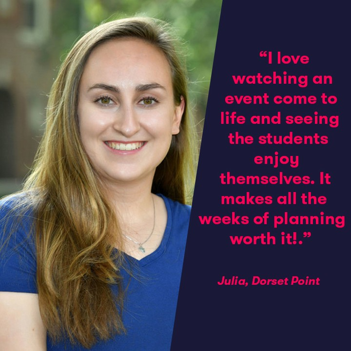"😀 Julia, Residence Assistant at Dorset Point, tells us about her aparto experience. 👌 – ""I love watching an event come to life and seeing the students enjoy themselves. It makes all the weeks of planning worth it! – My favourite event has been the Friendsgiving event because I loved the food and being able to share a piece of my home with residents. Aside from being in an amazing location, my favourite part of Dorset Point is the three-legged cat that has taken up home in our courtyard. I'm not even that big of a cat person, but my flatmate is and seeing her excitement around him is the best!"" #apartofyourstory #apartofdorsetpoint #studentliving"