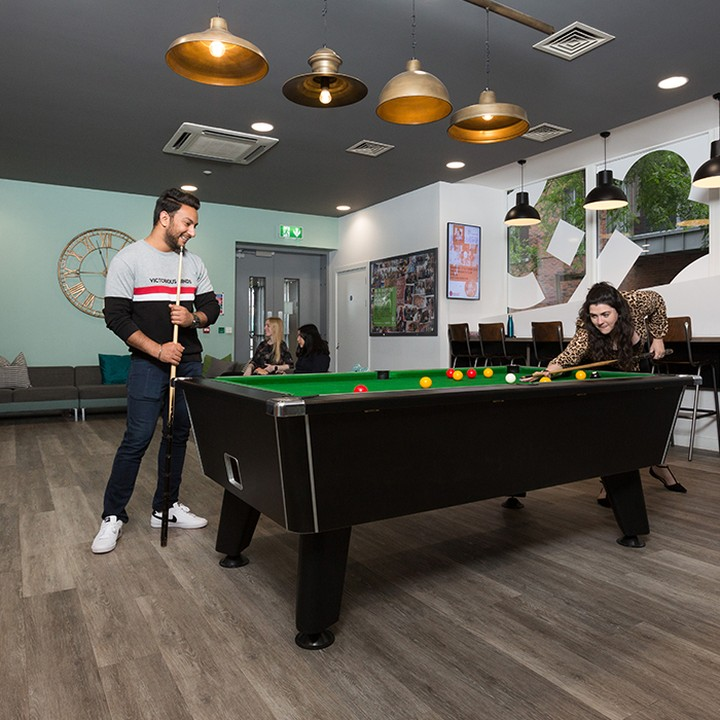 Game of pool? Game on 🎱  #apartofbinaryhub #studentliving